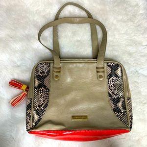 Gianni Bini Snake Print Leather Hand Bag